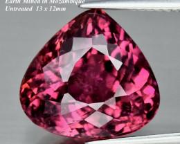 8.29ct UNHEATED Rubellite Tourmaline -Purplish Pink 13 x 12mm