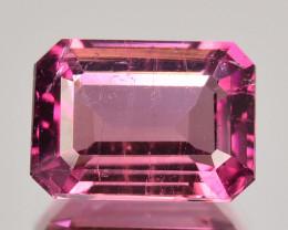 Pretty Pink 1.03 Cts Natural Tourmaline Octagon (Emerald Cut) Mozambique