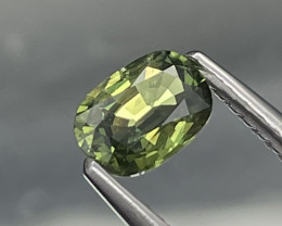 Unheated/Untreated Fine Quality Natural Green Sapphire 0.73 Cts