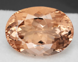 16.32Cts Beautiful Natural Peach  Color Morganite Oval Shape Loose Gems VID