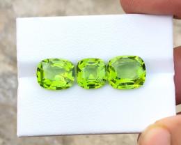 8.60 Ct Natural Green Transparent Peridot Gemstones Parcels