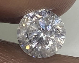 (2) Certified Nat $4647 Brilliant  1.09cts SI2  White Round Loose Diamond