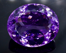 25.0 Crt Natural Amethyst Faceted Gemstone.( AB 20)