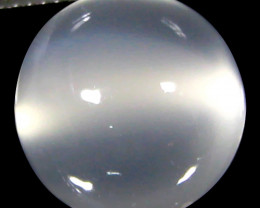 5.89Cts Excellent  Natural White Moonstone cats 'eye Loose Gem VIDEO