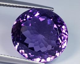13.45 ct  Top Quality Gem  Round Cut Natural Purple Amethyst