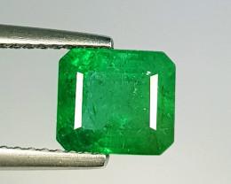 1.82 ct  Top Grade  Amazing Octagon Cut Natural Emerald