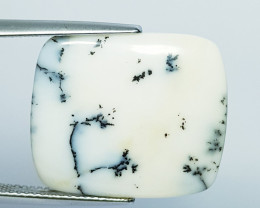 11.66 ct Natural Dendrite Opal Rectangular Cabochon  Gemstone