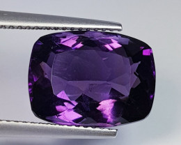 7.11 ct  Top Quality Gem Cushion Cut Natural Purple Amethyst