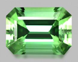 Flawless, custom precision emerald cut mint green tourmaline.