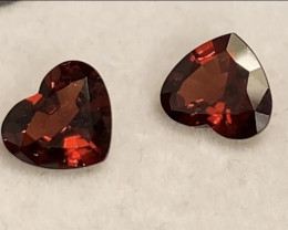 Pretty Pair of Red Garnets - Mozambique - KR184