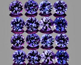 2.20 mm Round 20 pcs 1.12ct Violet Blue Sapphire [VVS]