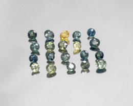 Sapphire 20 pieces  TCW 6.745 ct.   LOT-647