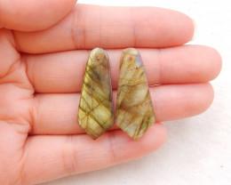 22.5cts natural labradorite earrings pair,handmade gemstone ,labradorite be