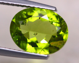 3.15ct Natural Green Peridot Oval Cut Lot V7878