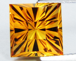 4.22Cts Wow Amazing Natural Citrine Square Fashion Checker Cut  Collector G