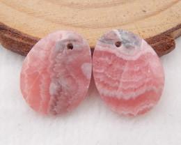 15.5cts argentina rhodochrosite earrings pair,rhodochrosite gem,rhodochrosi