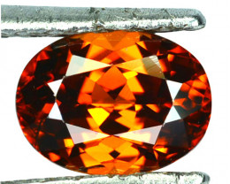 2.82 Cts Sparkling Natural Zircon Imperial Brown Color Oval Cut Tanzania