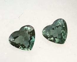 Pretty Green Hearts - AustralIan Sapphires KR198