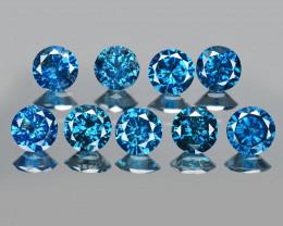 Diamonds 1.81 Cts 9Pcs Sparkling Rare Fancy Blue Color Natural
