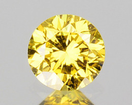 0.27 Cts Natural Untreated Diamond Fancy Yellow Round Cut Africa Parcel
