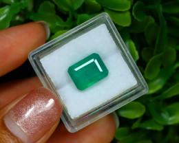 Emerald 3.46Ct Octagon Cut Natural Green Color Emerald C3123