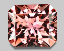 Flawless, custom precision emerald cut pink tourmaline.