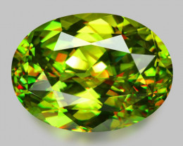 High gem, custom precision oval cut Madagascan sphene.