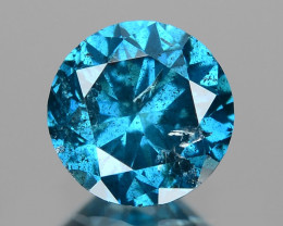 *NoReserve*Diamond 0.48 Cts Sparkling Rare Blue Color Natural