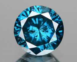 *NoReserve*Diamond 0.62 Cts Sparkling Rare Fancy Blue Color Natural