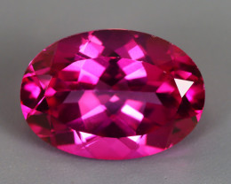 7.09 CT TOPAZ HOT PINK NATURAL  PERFECT SHAPE