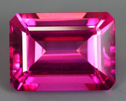 27.97 CT TOPAZ HOT PINK NATURAL PERFECT SHAPE OCTAGON