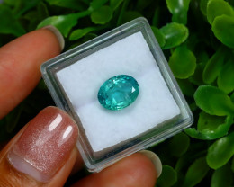 Emerald 2.60Ct Oval Cut Natural Zambian Green Color Emerald A2920