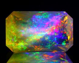 8.81Ct ContraLuz Precision Cut Mexican Very Rare Species Opal B3007