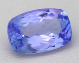 2.32Ct VVS Cushion Cut Natural Purplish Blue Tanzanite B3010