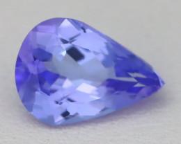1.61Ct VVS Pear Cut Natural Purplish Blue Tanzanite A2927