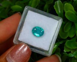 Emerald 1.65Ct Oval Cut Natural Zambian Green Color Emerald A2932