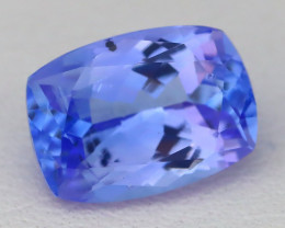Tanzanite 2.19Ct Cushion Cut Natural Purplish Blue Tanzanite A2935
