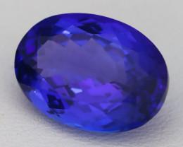 9.16Ct Natural D Block Vivid Blue Tanzanite IF Flawless Cushion Cut B3013