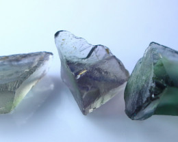 NR!!! 84.35 Cts Natural & Unheated~ Purple & Green Fluorite Rough Lot