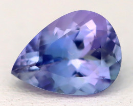 1.21Ct VVS Pear Cut Natural Vivid Purplish Blue Tanzanite B3035