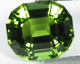 2.89Cts Natural Amazing Green Tourmaline  Fashion Emerald Cut Collection VI