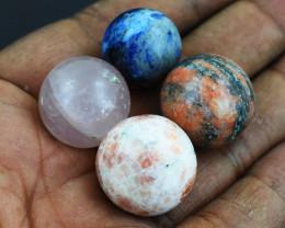 Genuine Mix GemStone Mini Sphere Set