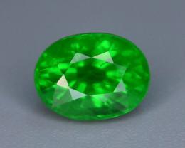 AAA Grade 1.30 ct Forest Green Tsavorite Garnet-K