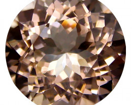1.38Cts Beautiful Natural Peach  Color Morganite Round Shape Loose Gemstone