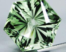 26.75Cts Stunning Natural Green Amethyst (prasiolite) Octagonal Magic Cut R