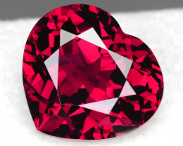 12.18Cts Genuine Natural Unheated Rhodolite Garnet Heart Shape Loose Gem VI