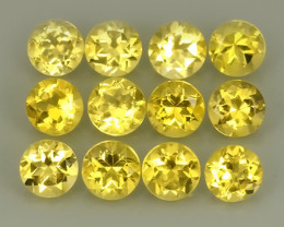 5.70 Cts Ravishing Natural Golden~Yellow Citrine Round Cut Gemstone!!