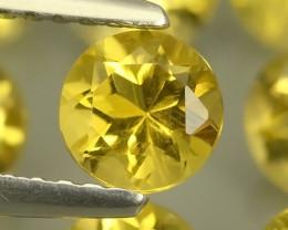 5.80 Cts Ravishing Natural Golden~Yellow Citrine Round Cut Gemstone!!