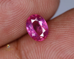 Lustrous Natural Ruby from Tajikistan