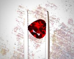 1.85 Carats Natural Rhodolite Heart Shape Garnet Cut Stone